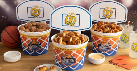 Slam Dunk Basketball Buckets & Tournament Specials from Auntie Anne's