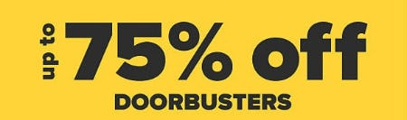 Up to 75% Off Doorbusters