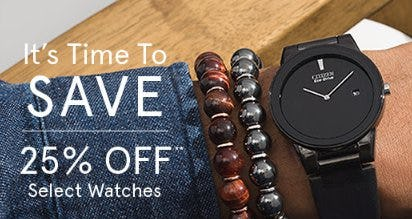 25% Off Select Watches from Zales Jewelers