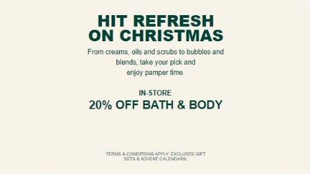 20% Off Bath and Body