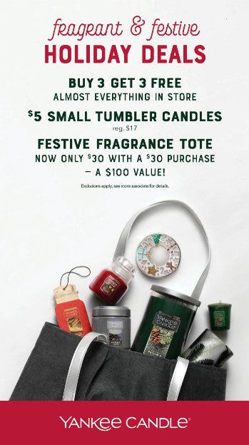 Black Friday deals at Yankee Candle from Yankee Candle