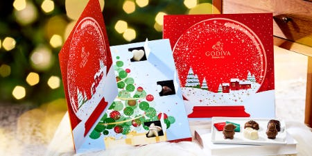 New ADVENT CALENDARS! from Godiva Chocolatier