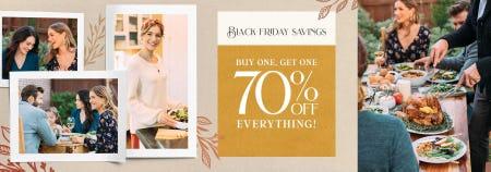 BOGO 70% Off Black Friday Savings from francesca's