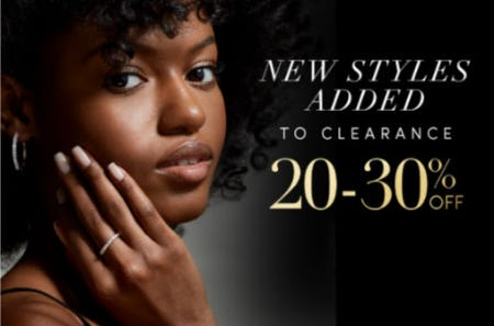 20-30% Off Clearance from Jared Galleria of Jewelry