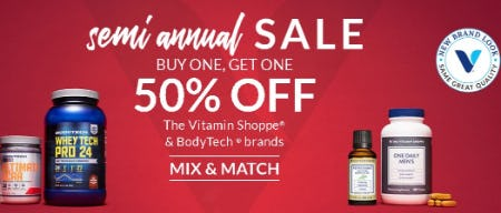 Semi Annual Sale: Buy One, Get One 50% Off from The Vitamin Shoppe