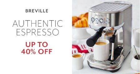 Up to 40% Off Breville