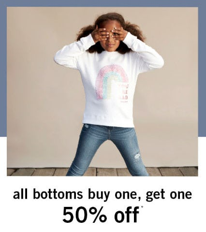 BOGO 50% Off All Bottoms from abercrombie