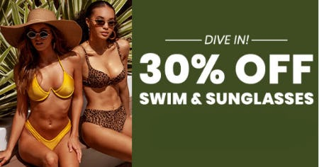 30% Off Swim & Sunglasses