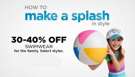 30-40% Off Swimwear from Kohl's