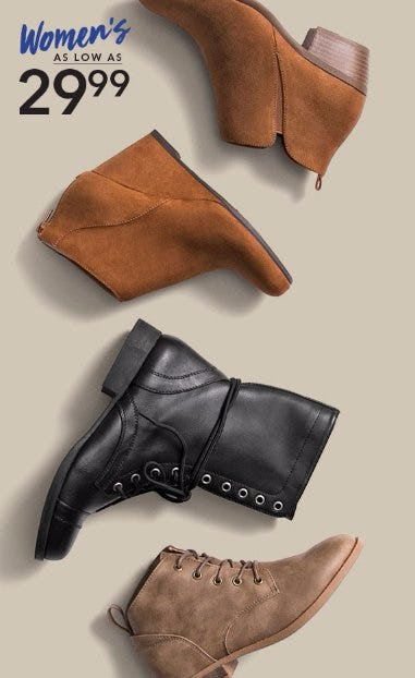 Shop Women's Boots as low as $29.99