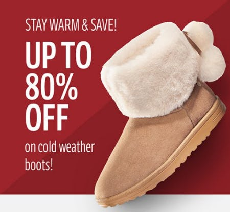 Up to 80% Off on Cold Weather Boots from THE WALKING COMPANY