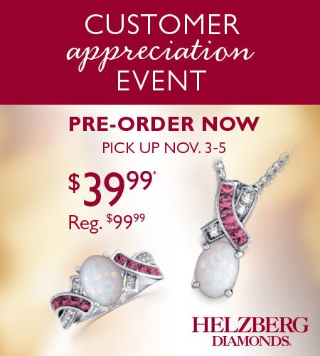 Reserve Your Specially Priced Pendant or Ring Today