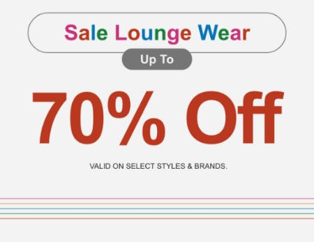 Sale Lounge Wear up to 70% Off