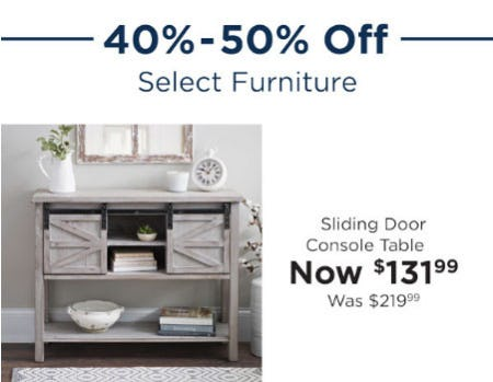 40%   50% Off Select Furniture