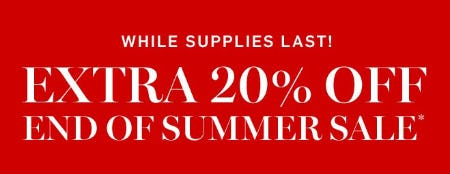 Extra 20% Off End of Summer Sale from Williams-Sonoma