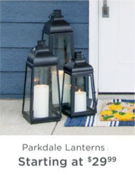 Parkdale Lanterns Starting at $29.99 from Kirkland's Home