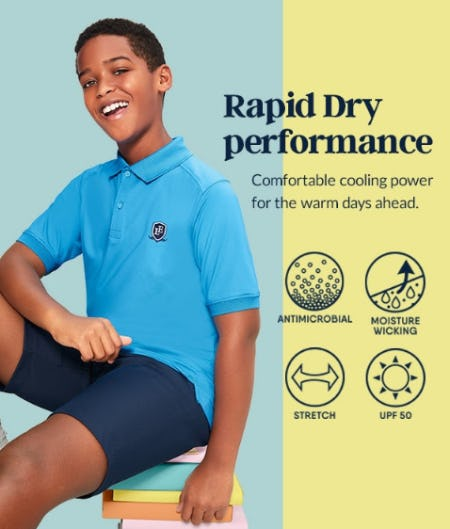 Rapid Dry Performance from Lands' End