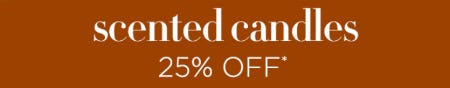 25% Off Scented Candles