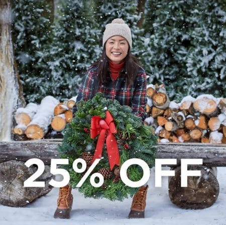 Get 25% Off Your Purchase