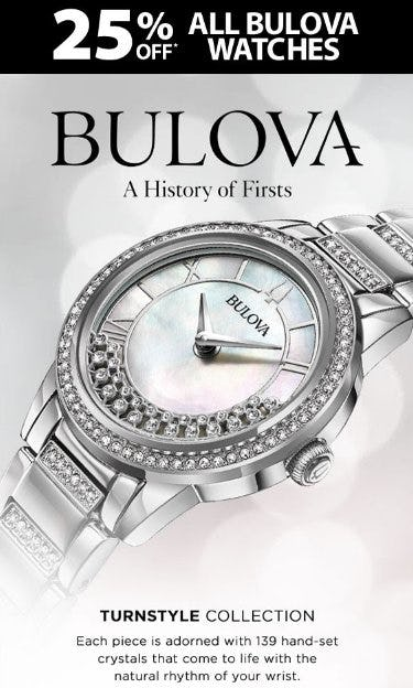 25% Off All Bulova Watches from Kay Jewelers