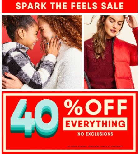 40% Off Everything from Old Navy