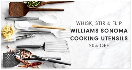 20% Off Williams Sonoma Cooking Utensils