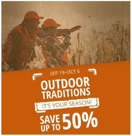 Up to 50% Off Outdoor Traditions from Cabela's