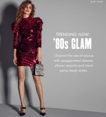 80s-Inspired Glam from Bloomingdale's