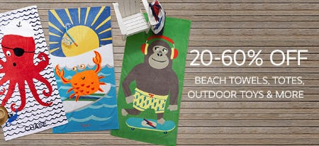 20-60% Off on Beach Towels, Totes, Outdoor Toys & More from Pottery Barn Kids