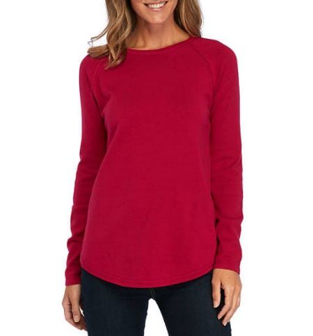 Kim Rogers Solid Crew-Neck Sweater