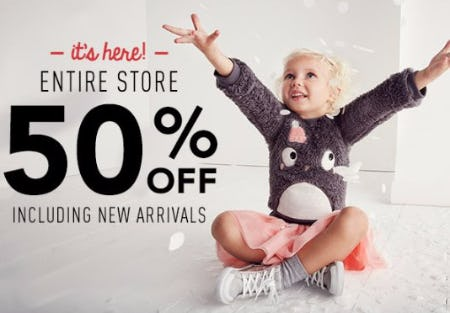 Entire Store 50% Off Including New Arrivals