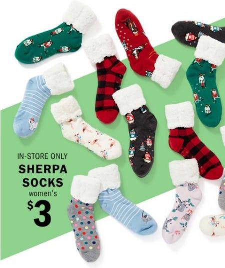 $3 Women's Sherpa Sock from Old Navy