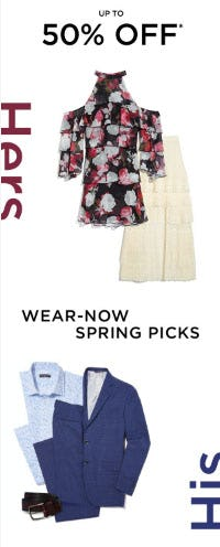 Up to 50% Off Spring Picks from Saks Fifth Avenue