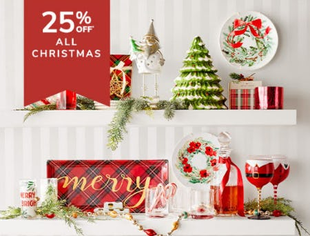 25% Off All Christmas