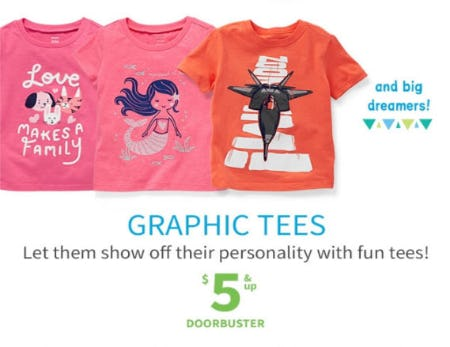 $5 & Up Graphic Tees from Carter's