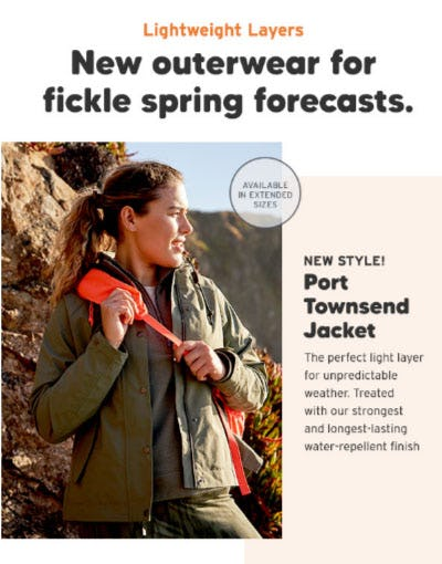 New Outerwear For Fickle Forecasts from Eddie Bauer