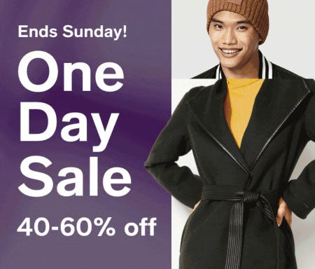 One Day Sale: 40-60% Off from macy's