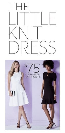 The Little Knit Dress Now $75 from White House Black Market