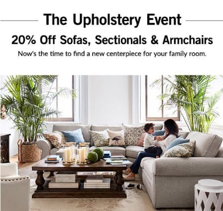 20% Off The Upholstery Event