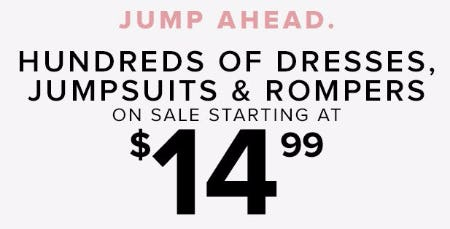 Hundreds of Dresses, Jumpsuits & Rompers on Sale Starting at $14.99