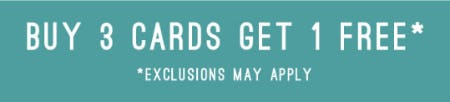 Buy 3 Cards Get 1 Free from PAPYRUS