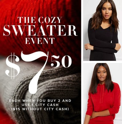 The Cozy Sweater Event from New York & Company