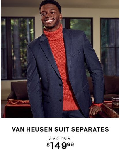 Van Heusen Suit Separates Starting at $149.99 from Men's Wearhouse
