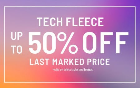 Tech Fleece up to 50% Off Last Marked Price