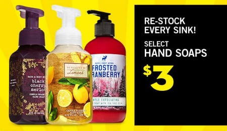 $3 Select Hand Soaps from Bath & Body Works