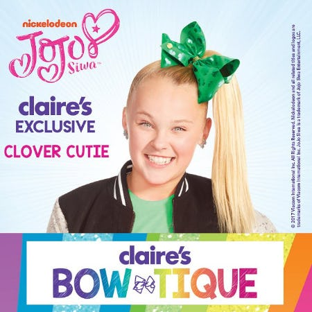 JoJo St. Pat's Bow! from Claire's