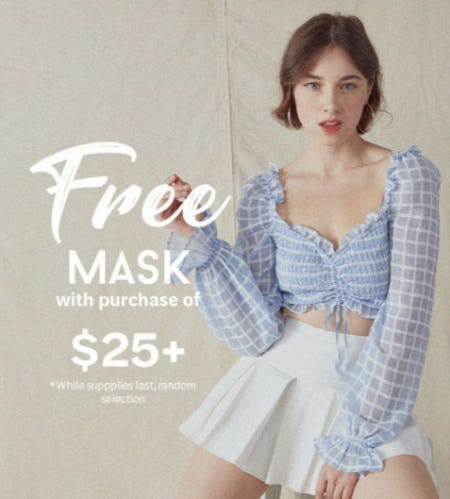 Free Mask with Purchase of $25+ from Papaya