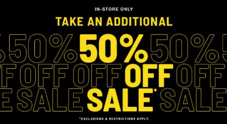 Additional 50% Off Sale