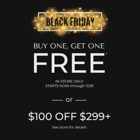 Black Friday BOGO from Daniel's Jewelers