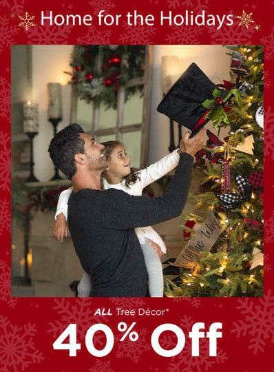 40% Off All Tree Decor